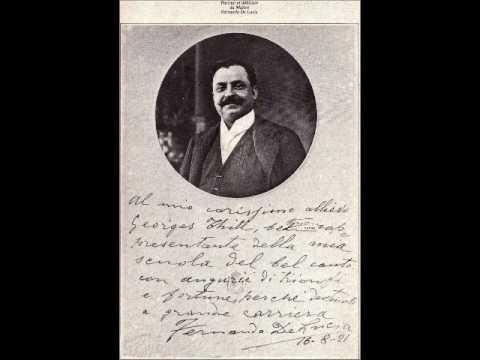 Georges Thill parla del suo maestro di bel canto Fernando De Lucia