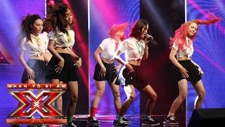 baby one more time - nhom gem  tap 4 vong hoi ngo  the x factor - nhan to bi an 2016 season 2