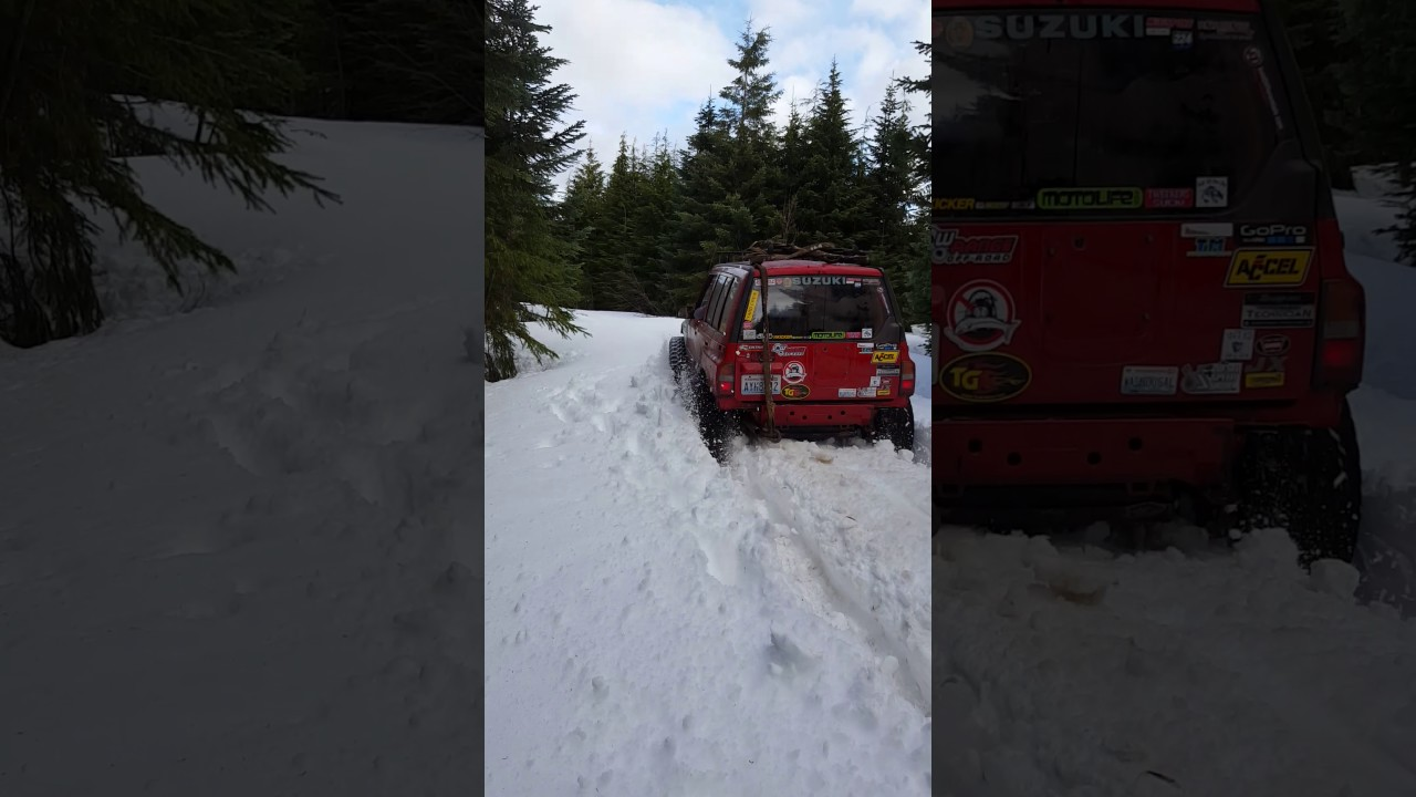 suzuki sidekick plowing snow [ 1280 x 720 Pixel ]