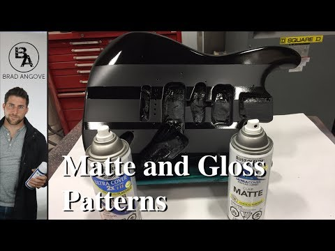 How to paint matte and gloss patterns with spray paint