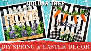 TWO SPRING DIY DECOR PROJECTS | Fence Welcome Flower Sign & Easter Rabbit Bunny | Items $1 or Less!