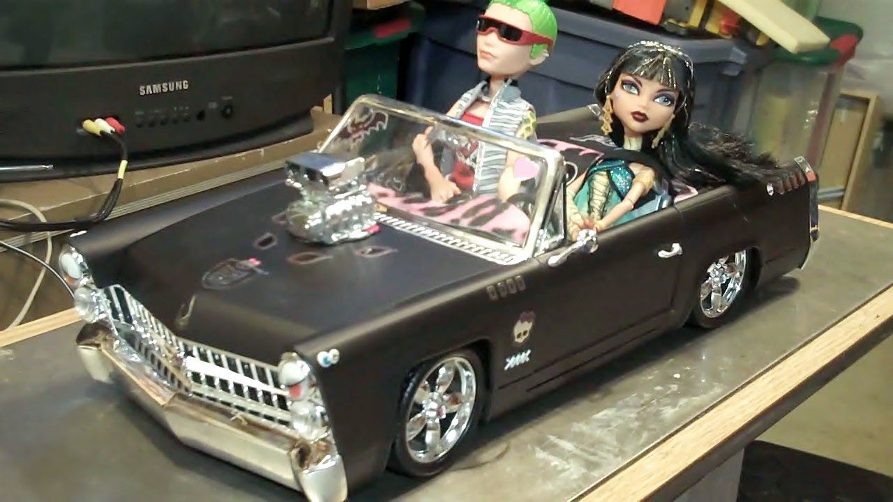 New Monster High Cleo S Car Custom Hot Rod Convertible Aka