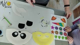 Fabrication de masques Panda et Licorne par Huguette