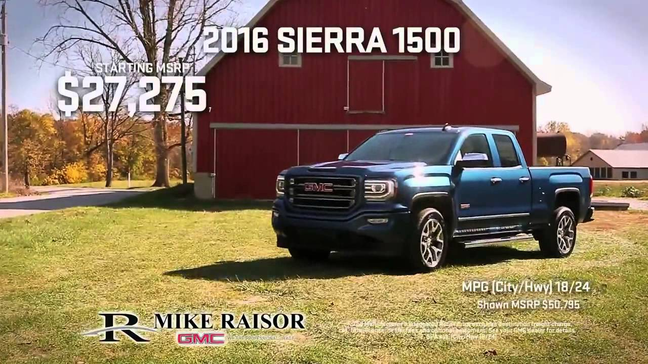 Mike Raisor Gmc Looking For A New Gmc Youtube
