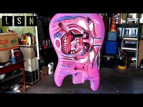 "How to make a Pink ""Glow in the Dark"" King Crimson Guitar 🎸"
