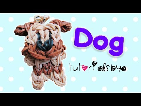 {Bobble Head} Puppy / Dog Charm/Mini Figurine Rainbow Loom Tutorial