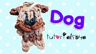 {bobble Head} Puppy / Dog Charm/mini Figurine Rainbow Loom Tutorial
