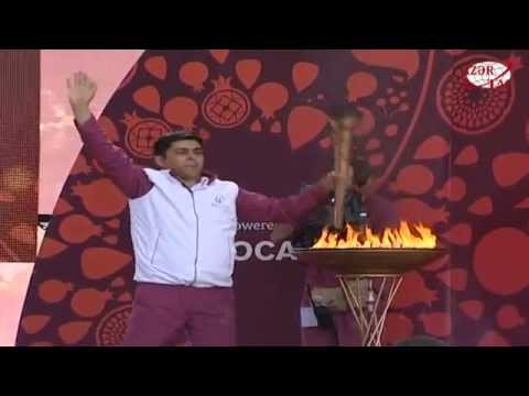 Baku 2015 flame brings joy to Kurdamir