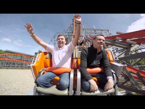 Wicked Cyclone at Six Flags New England on ride