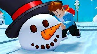 СИМУЛЯТОР СНЕГОВИКА или Снежной Бабы #1 Кид играет в Snowman Simulator в Роблокс