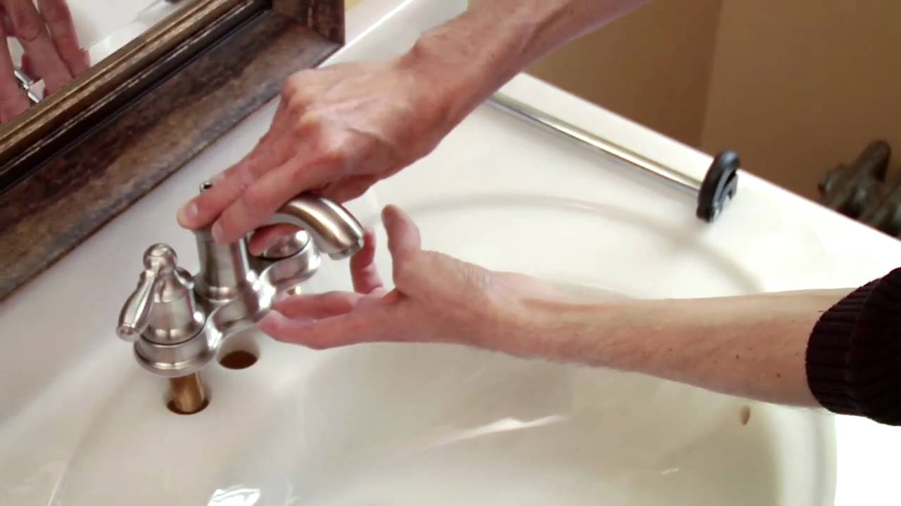 How to Install a Moen Centerset Faucet - YouTube