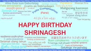 Shrinagesh   Languages Idiomas - Happy Birthday