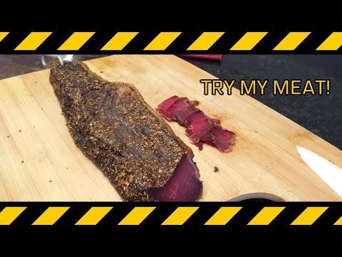 BEST BEEF JERKY! Homemade Biltong!