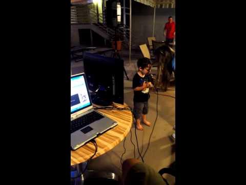 Cillian singing karaoke!