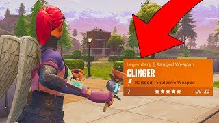 NEW 'CLINGER' GRENADE GAMEPLAY! FORTNITE BATTLE ROYALE NEW UPDATE! NEW SKINS AND MORE?