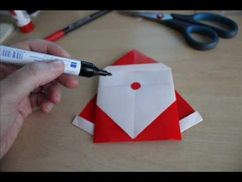 How to Make an Origami Santa Claus? | DIY | Craft Ideas - YouTube | 360x480