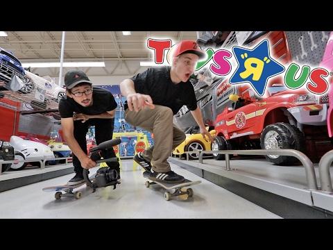Building A Skatepark Inside Toys R Us!