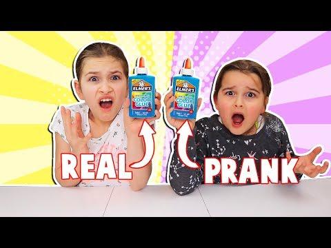 REAL vs PRANK SLIME CHALLENGE!!!   JKrew