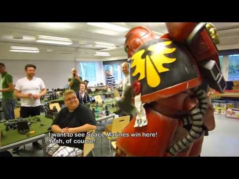 Pilerud's cosplay - Blood Angels Space Marine at LinCon 2013