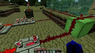 Minecraft Pistons: Fluid Wave Generator