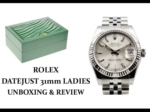 Rolex Datejust Ladies UNBOXING & REVIEW - 31mm Silver Index Fluted Bezel Jubilee Bracelet