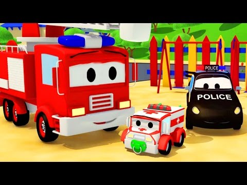 The Car Patrol: Fire Truck and Police Car and baby Amber disappearance in Car City | Cars & Trucks