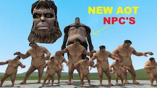 NEW ATTACK ON TITAN NPC'S GMOD-FIGHTS