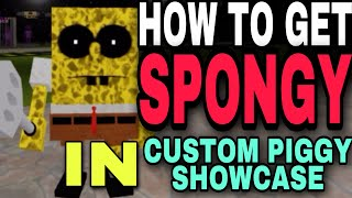 """[READ PINNED] HOW TO GET NEW """"SPONGY"""" BADGE IN CUSTOM PIGGY SHOWCASE   ROBLOX"""