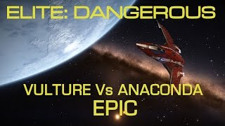 Elite Dangerous - Epic Vulture vs Anaconda Dogfight.