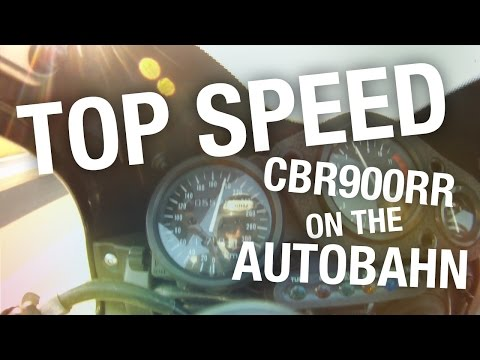 Fireblade CBR900rr Top Speed on the Autobahn