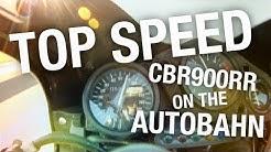 Fireblade CBR900rr Top Speed on the Autobahn
