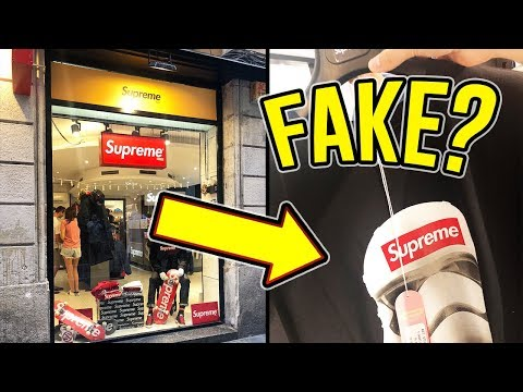 """Visiting The """"Fake"""" Supreme Store in Spain *I GOT KICKED OUT*"""