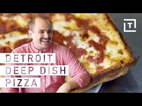 Making Deep Dish Pizza Detroit Style || Food/Groups Motor City's Deep Dish