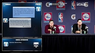 Nba 2k14 76ers mygm ep. 6 - the owner's wish is sam hinkie's command! (powered by @elgatogaming)