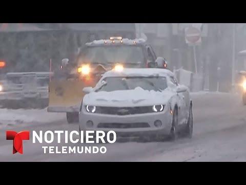 Nueva poderosa tormenta de nieve sacude el noreste | Noticiero | Noticias Telemundo