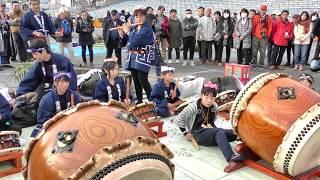 秩父屋台囃子「吉田郷土会・大太鼓3連」 2018 秩父夜祭 本祭 Chichibu Yomatsuri,Night Festival