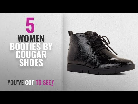 Top 10 Cougar Shoes Women Booties [2018]: Cougar Shoes Women's Snack Black Patent Snake 8 M