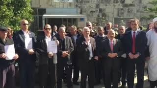 محافظ بيت لحم كامل حميد يشارك بوقفة تضامنية مع الاسرى