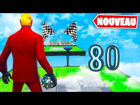 Noob Run Impossible 80 levels ! Fortnite Creatif Game