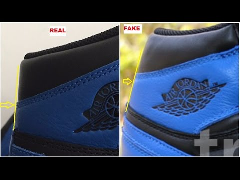 best website e6d23 11fe2 Quick Tips to Identify The Fake Air Jordan 1 Royal - YouTube