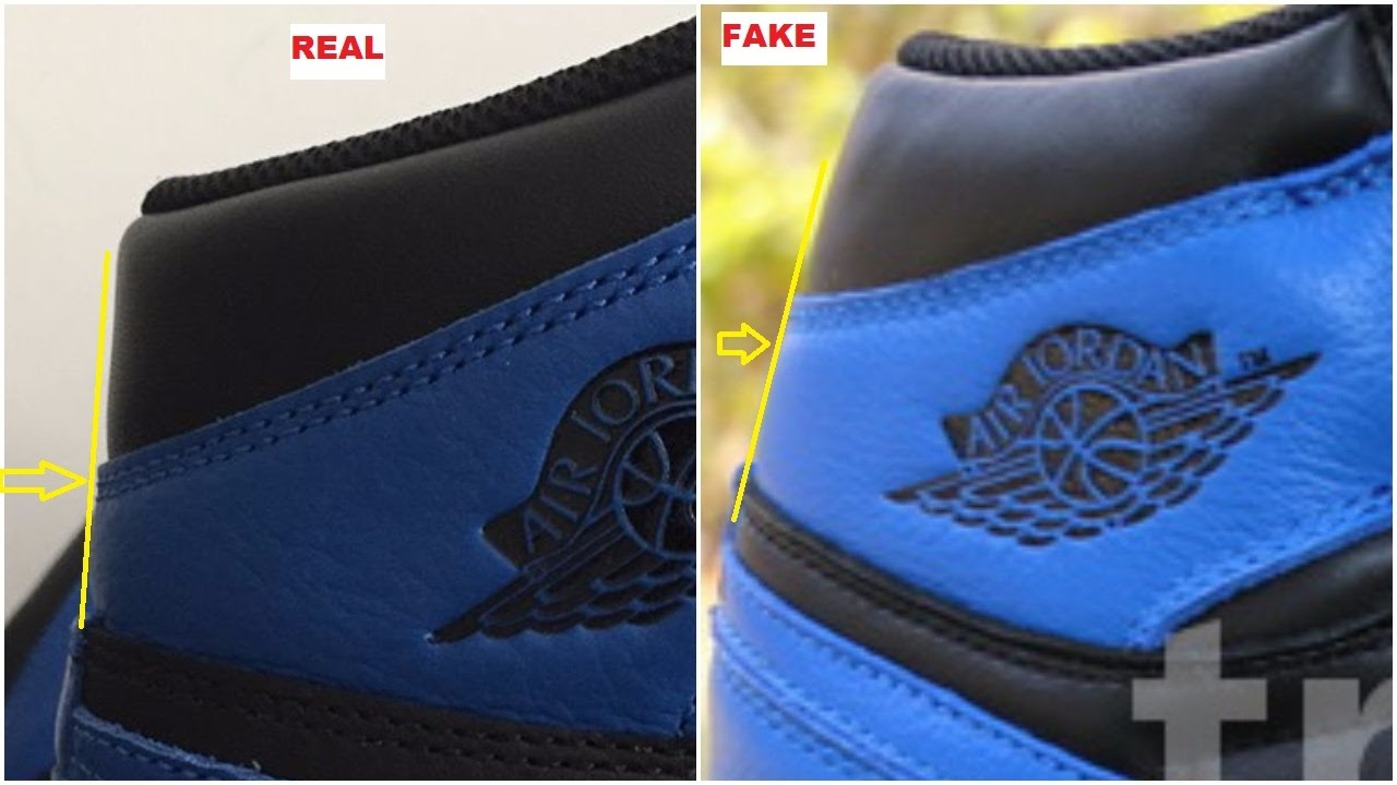 f77aaf965be6 Quick Tips to Identify The Fake Air Jordan 1 Royal - YouTube