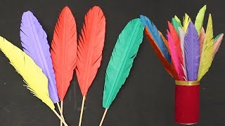 How to Make Paper Feathers | DIY Crafts