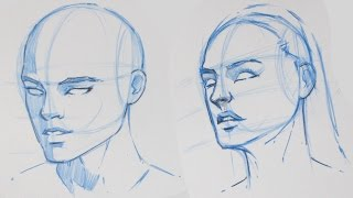 How to Draw the Human Head - 3/4 View | Tutorial 1/4