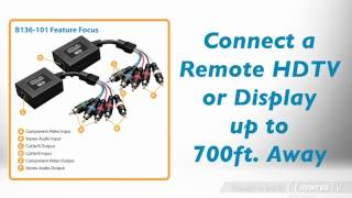 Product Tour: Tripp Lite B136-101 Component Video with Stereo Audio over Cat5 Extender Kit