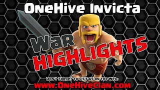 OneHive Invicta VS Barbajan X One WAR Recap   Clash of Clans
