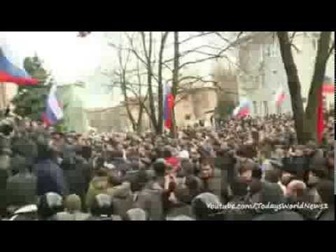 Pro-Russia protesters in Donetsk want referendum
