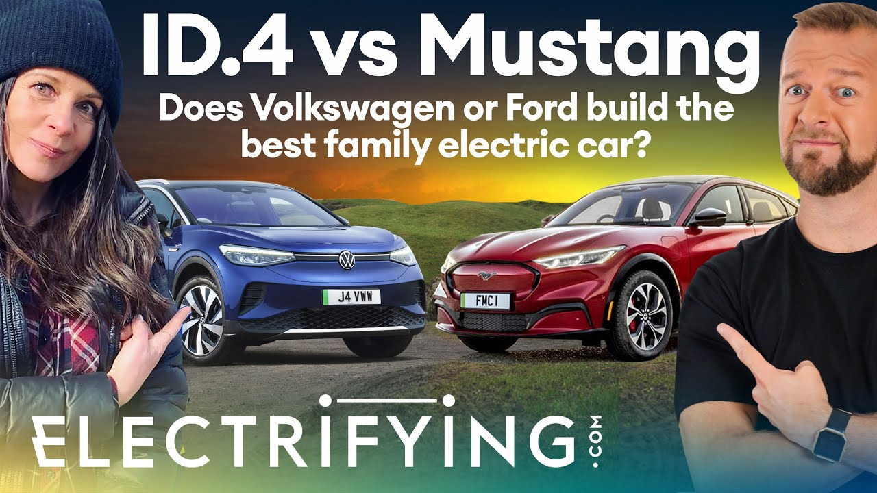 Volkswagen ID.4 vs Ford Mustang Mach-E: Electric family SUV shootout / Electrifying