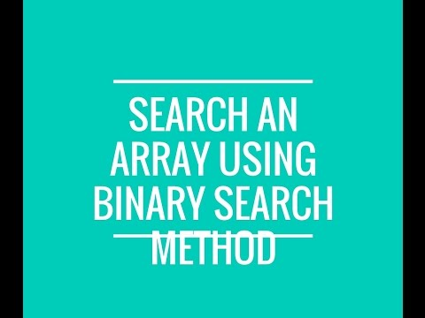 How to search for a value in java array using binarySearchMethod?