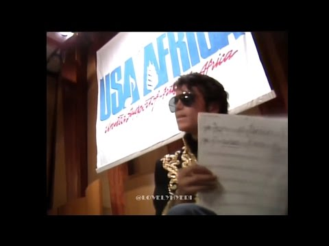 """MICHAEL JACKSON And Artists """"We Are The World"""" Recording"""