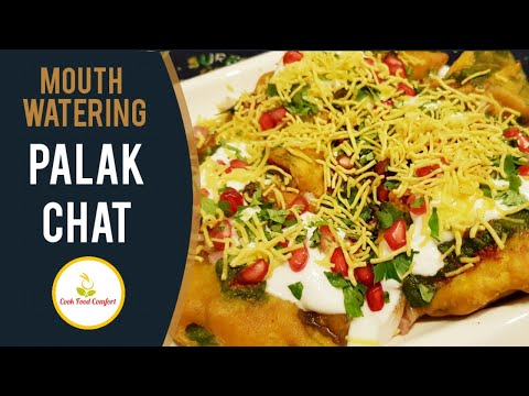 Mouth Watering Palak Chat Recipe Video By Cook Food Comfort.